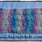 Crochet Puff Flower Stitch Scarf - Dearest Debi Patterns