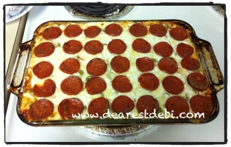Pizza Casserole - Dearest Debi - It's Eat Time!