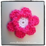 Simple Crochet Flower - Dearest Debi Patterns