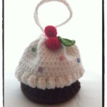 Crochet Cupcake Purse with Cherries on Top