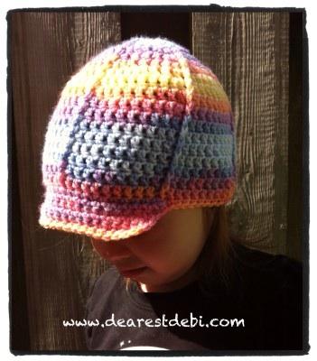 Crochet Toddler Ball Cap - Dearest Debi Patterns