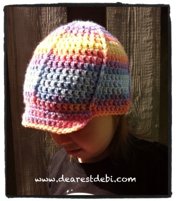 Crochet Toddler Ball Cap - Dearest Debi Patterns
