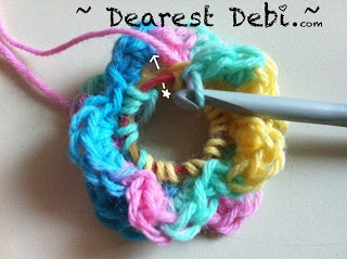 Crochet Measuring Tape Flower - Dearest Debi Patterns