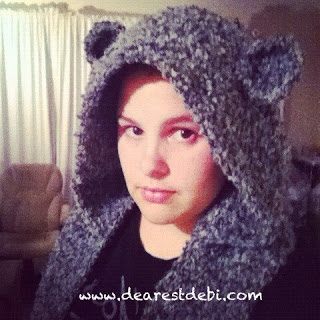 Crochet Snow Bear Scoodie - Dearest Debi Patterns