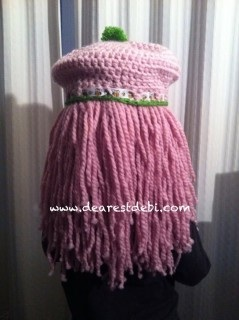 Strawberry Shortcake Inspired Hat and Wig - Dearest Debi Patterns