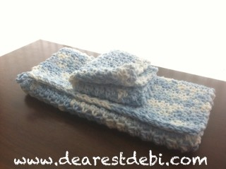 Crochet  Dishcloth and Towel Gift Set - Dearest Debi Patterns