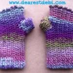 Mosaic Snowdrop Fingerless Gloves - Dearest Debi Patterns