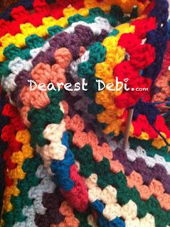 Grannyghan Afghan - Granny Stitch Afghan - Dearest Debi Patterns