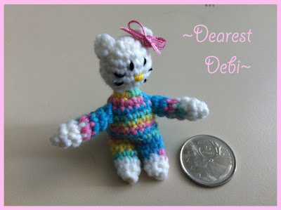 Mini Hello Kitty Inspired Amigurumi Pattern - Dearest Debi Patterns