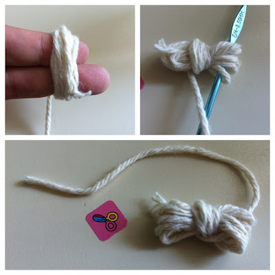 No cotton ball.. Use cotton yarn scraps to make cotton balls