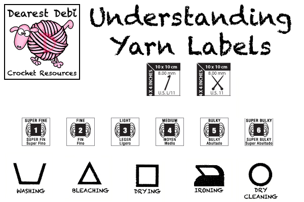 Understanding Yarn Labels Crochet Resources by Dearest Debi