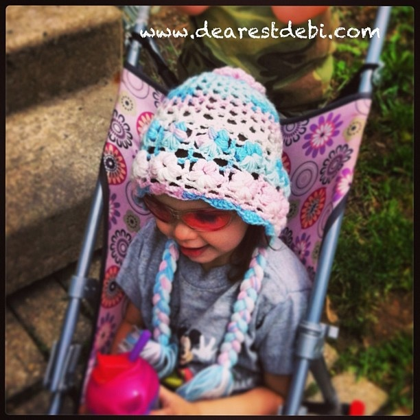 Crochet Flower Bonnet - Dearest Debi Patterns
