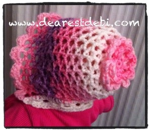 Crochet 3D Easy Bonnet - Newborn - Dearest Debi Patterns