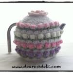 Crochet Rose Bud Tea Cozy