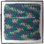 Crochet Super Thick Dishcloth - Dearest Debi Patterns