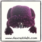 Crochet Cabbage Patch Kid Newborn Beanie