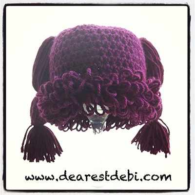 Crochet Cabbage Patch Kid Newborn Beanie - Dearest Debi Patterns