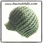 Crochet Newsboy Ribbed Baby Beanie