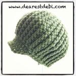 Crochet Newsboy Ribbed Baby Beanie