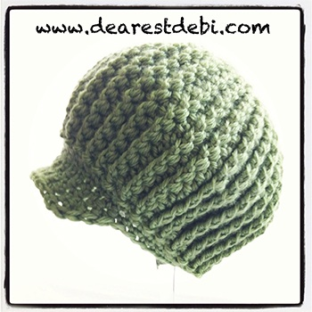 Crochet Newsboy Ribbed Baby Beanie - Dearest Debi Patterns