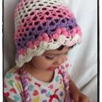 Crochet 3D Flower Bonnet Toddler - Dearest Debi Patterns