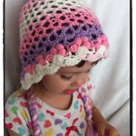 Crochet 3D Flower Bonnet Toddler