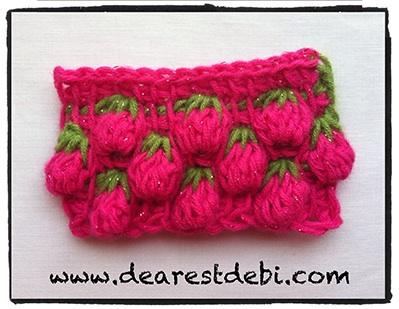 Tunisian Crochet Berry Stitch - Dearest Debi Patterns