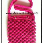 Tunisian Crochet Berry Bag - Dearest Debi Patterns