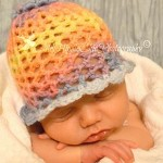 Crochet 3D Flower Beanie – Dearest Debi Patterns