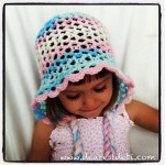 Crochet 3D Easy Bonnet - Toddler - Dearest Debi Patterns