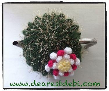 Crochet Cactus Tea Cozy - Dearest Debi Patterns