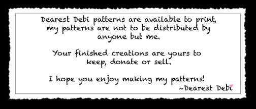 Dearest Debi Patterns Policy