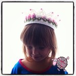 Crochet Flower Girl Crown