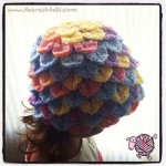 Crocodile Crochet Toddler Bonnet - Dearest Debi Patterns