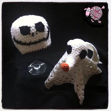 Crochet Pattern For Jack Skellington Hat : Crochet Jack Skellington Beanie & Zero Lovey-Dearest Debi ...