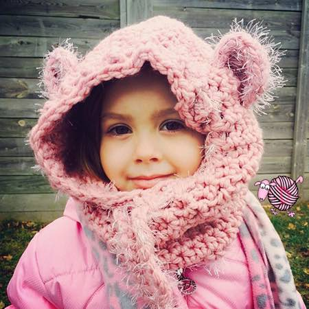 Crochet Baylie Bear Cowl Modifications Dearest Debi Patterns