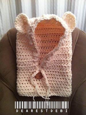 Crochet Baylie Bear Cowl by Dearest Debi