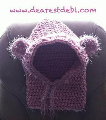 Crochet Baylie Bear Cowl by Dearest Debi