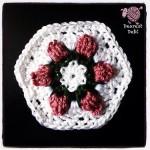 Crochet Flower Bud Granny Hexagon & Hand Bag