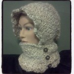 Crochet Hooded Infinity Scarf with Buttons