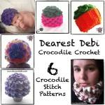 Crocodile Crochet Book by Dearest Debi Patterns
