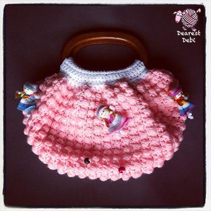 Free Crochet Patterns Fat Bottom Bag : Crochet Fat Bottom Bag Doll Purse - Dearest Debi Patterns