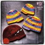Crochet Puff Ball Beanie with Brim