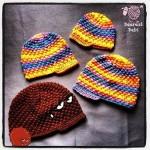 Crochet Puff Ball Beanie with Brim
