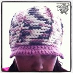 Crochet Reversible Ribbed Cap with Brim