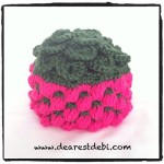 Crocodile Crochet Berry Beanie - Dearest Debi Patterns
