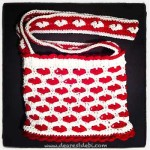 Crochet Sweet Heart Bag - Dearest Debi Patterns