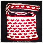 Crochet Sweet Heart Bag - Dearest Debi Patterns