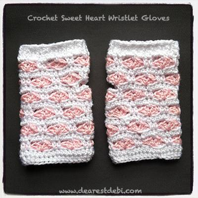 Sweet Hearts Wristlet Gloves - Dearest Debi Patterns