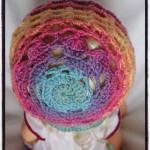 Crochet Valentines Hearts Bonnet - Dearest Debi Patterns